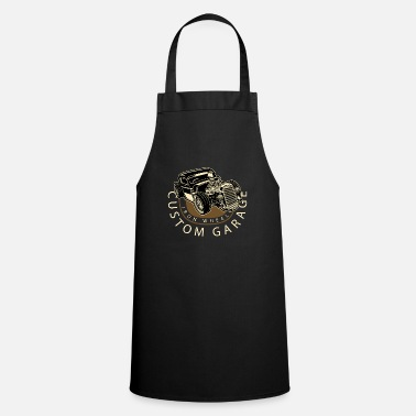 Garage Hot Rod Vintage Rockabilly Iron Wheel Gift - Apron