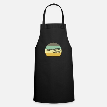 Eel fishing angler route gift rod fisherman - Apron