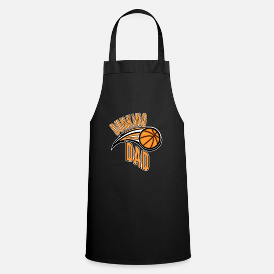 Basket Aprons - Dunking Dad Basketball Dad Father Sport Club - Apron black