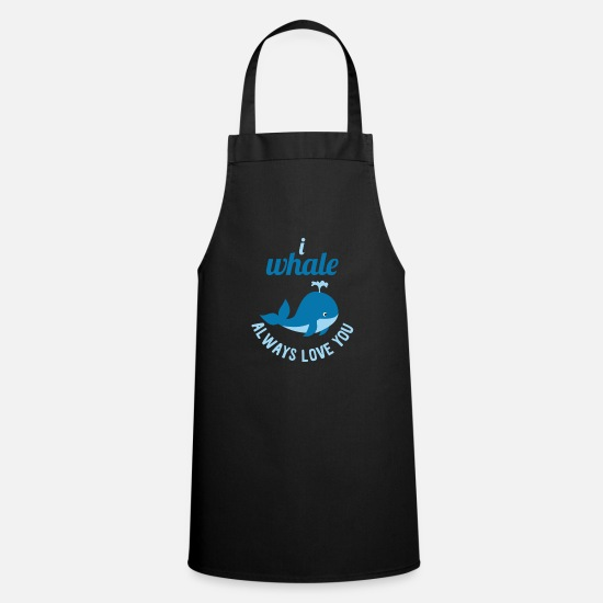Birthday Aprons - Whale whale blue whale whaling sayings funny cool - Apron black