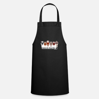Gift for Cow Lovers | Funny Celebrate Diversity - Apron