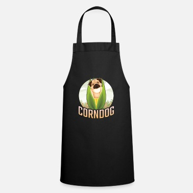 Corn Dog Farm corn dog with pug corn hole - Apron