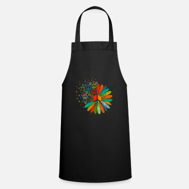 Earth Peace sign hippie - Apron