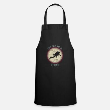 Combat Diver Keep Calm saying diving retro gift divers - Apron