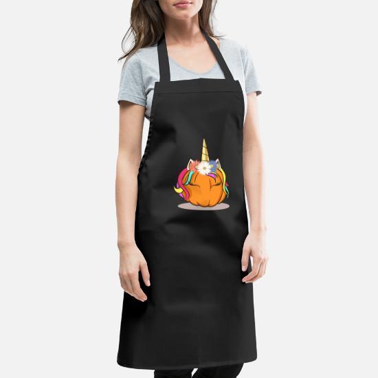 Halloween Schort.Eenhoorn Pompoenhoofd Voor Halloween Schort Spreadshirt