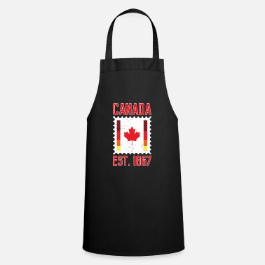 Design Love Canada 1867 Maple Leaf Design Idea product - Apron