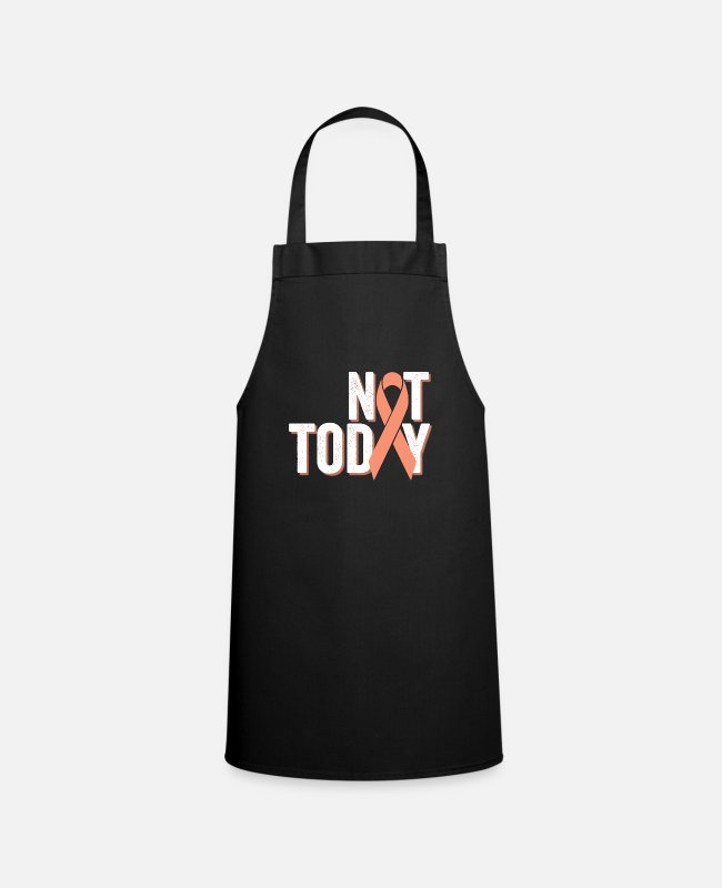 Cancer Survivor Aprons - Not Today | Uterine Endometrial Cancer Warrior - Apron black