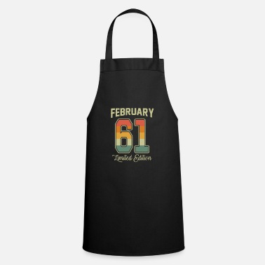 Established Vintage 60th Birthday February 1961 Sports Gift - Apron