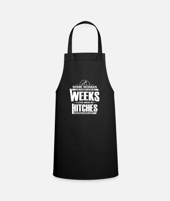 Industry Aprons - Oilfield Wife Gift Oilplattform Women - Apron black
