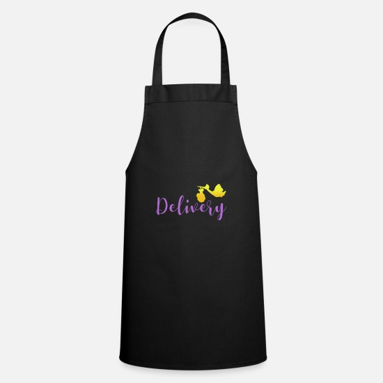 Birthday Aprons - Birth baby delivery - birth baby delivery - Apron black
