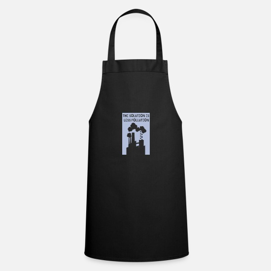 Enviromental Aprons - Climate change activist solution is less CO2 - Apron black