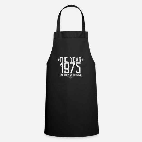 Gift Idea Aprons - 45th birthday present anniversary 1975 years - Apron black
