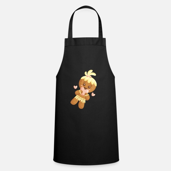 Love Aprons - Gingerbread in love - Apron black