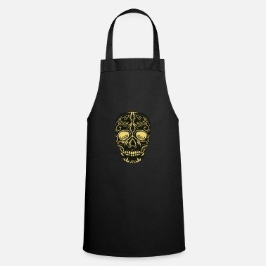 Black And Gold SugarSkull Black and Gold - Apron
