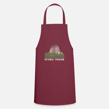 Building Devils Tower Shirt National Monument Nature Souven - Apron