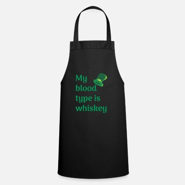 Fourleaf Clover My blood type whiskey - Apron