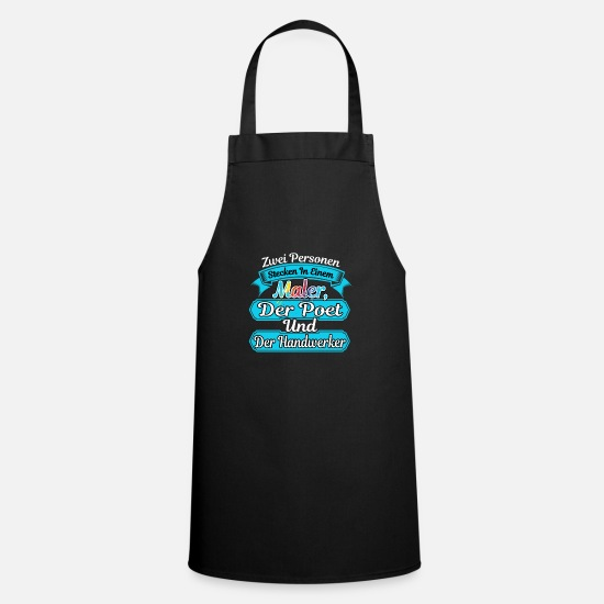 Painter Aprons - Painter construction worker artisan poet gift idea - Apron black