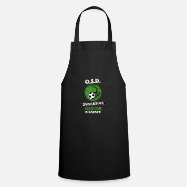 Soccer Ball Football Soccer Player Soccer Field Lawn - Cooking Apron
