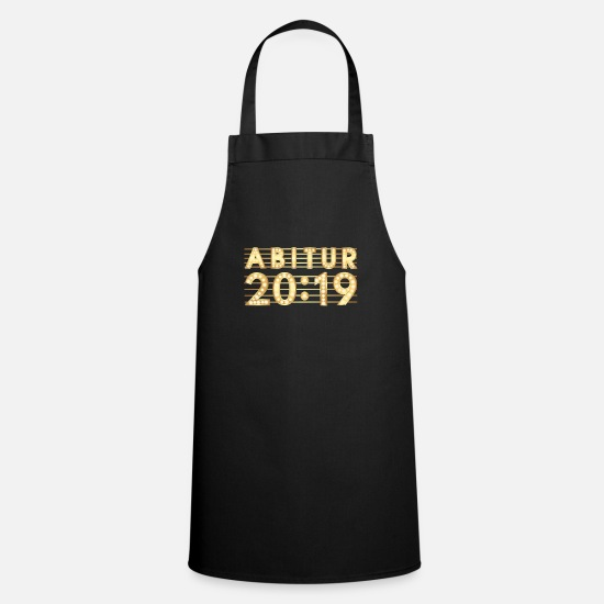 High School Graduate Aprons - High School 2019, High School 20:19, Show LED Banner - Apron black
