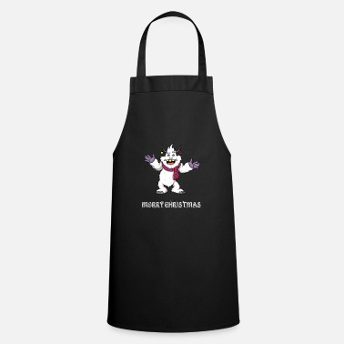 Foot Christmas Yeti Merry Christmas Bigfoot Sasquatch - Cooking Apron
