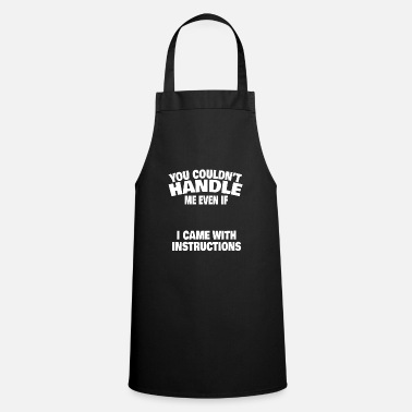 Pickup Line Woman guide man single sarcasm joke gift - Cooking Apron
