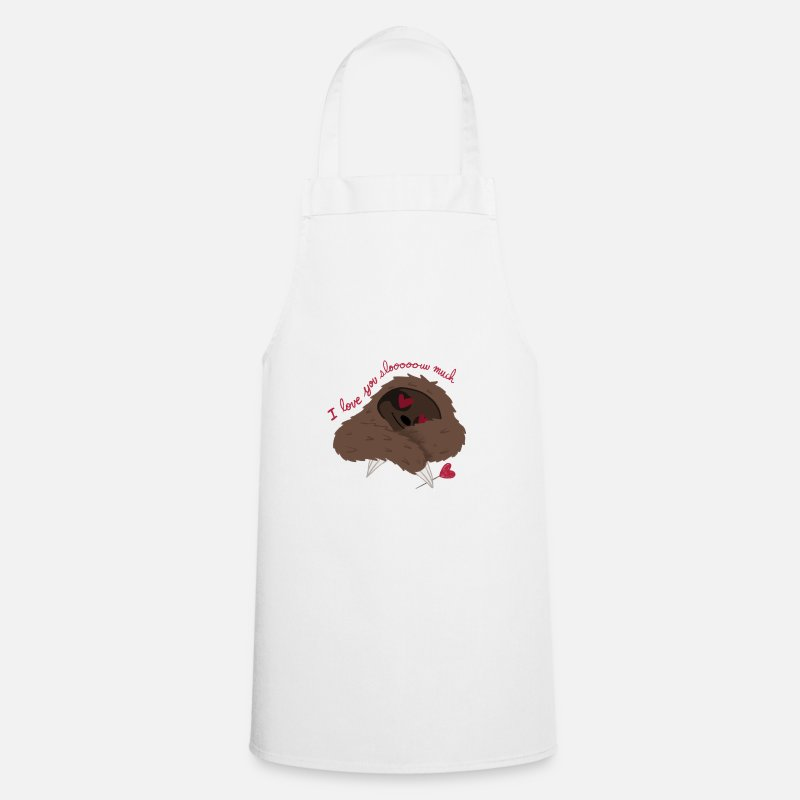 Super Aprons - Sloth sweet saying Love Lazy - Apron white