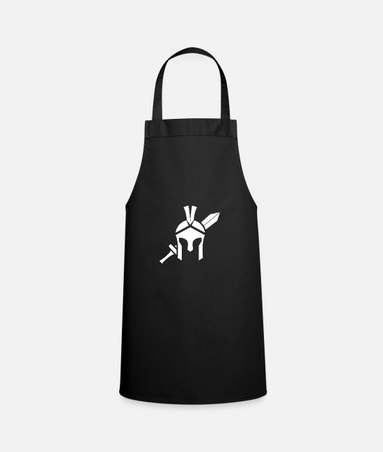 Sword Aprons - Helmet and sword - Apron black