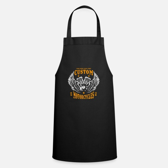 Race Track Aprons - Motorcycle Motorcyclist Biker Motor - Apron black