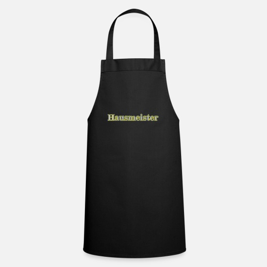 Gift Idea Aprons - Word janitor - Apron black