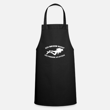 Scuba Diving Face to Face - Scuba Diving Fish Snorkeling - Apron