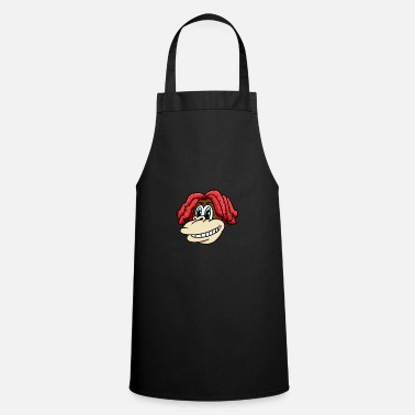 Charade Monkey head with cool hairstyle for lovers & kids - Apron