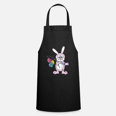 Egg Retro vintage grunge sytle easter bunny easter - Cooking Apron