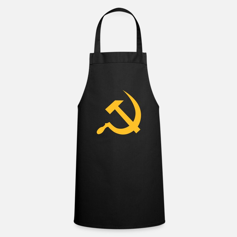Communism Aprons - hammer and sickle / soviet union / russia - Apron black