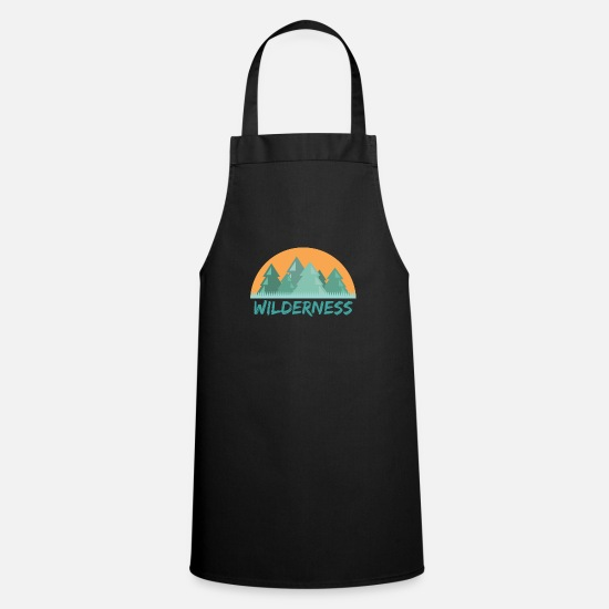 Gift Idea Aprons - Wilderness forest - Apron black