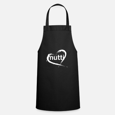 Vector Mom with heart Vector brush Vector - Cooking Apron