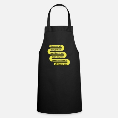 Writing write poems - Cooking Apron