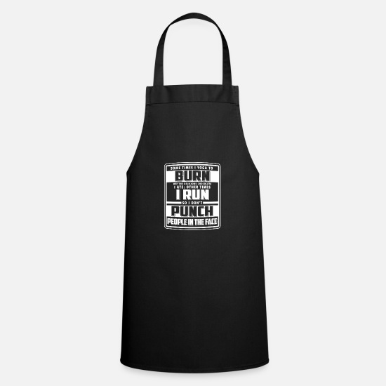 Yoga Aprons - Funny Yoga Sayings T-shirt Yoga Teacher - Apron black