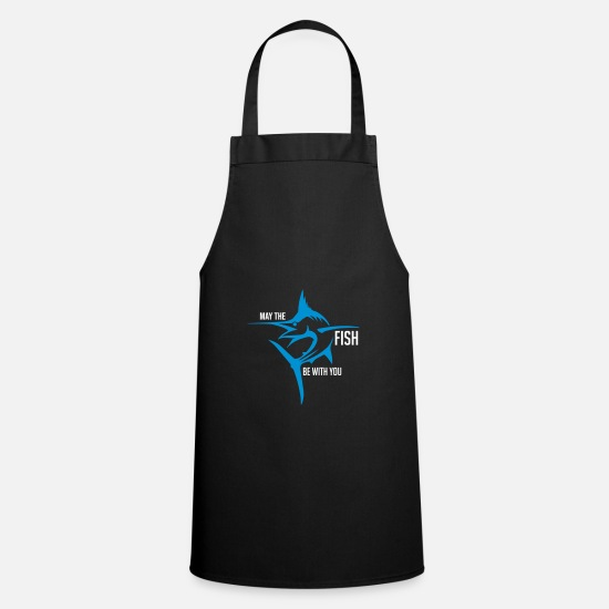 Gift Idea Aprons - Fishing. fishing - Apron black