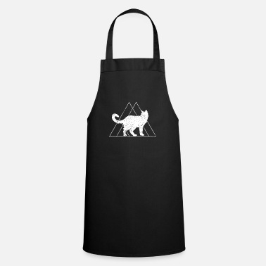 Geometry Cat gift triangle Maine coon pyramid animal - Cooking Apron