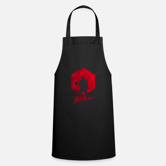 Dungeons And Dragons Aprons - Brutal Barbarian - Dungeons and Dragons dnd d20 - Apron black