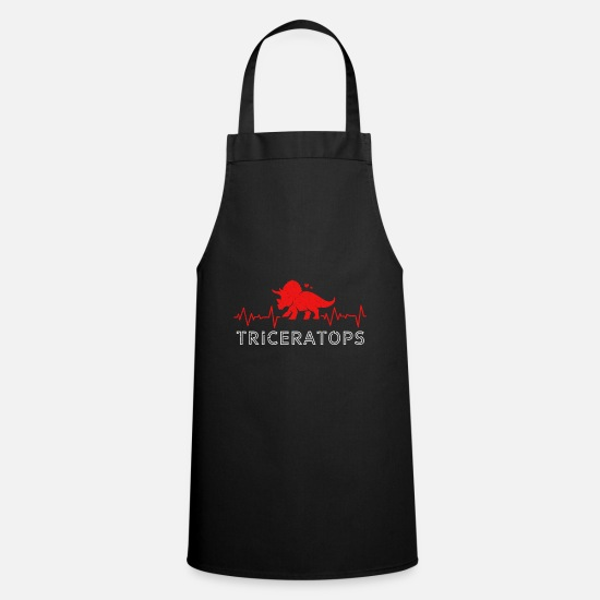 Gift Idea Aprons - Triceratops - Apron black