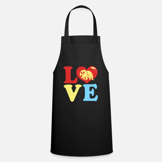 Love Aprons - Triceratops - Apron black