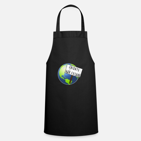 Gift Idea Aprons - Fridays For Future Stop Climate Co2 Protest Gift - Apron black