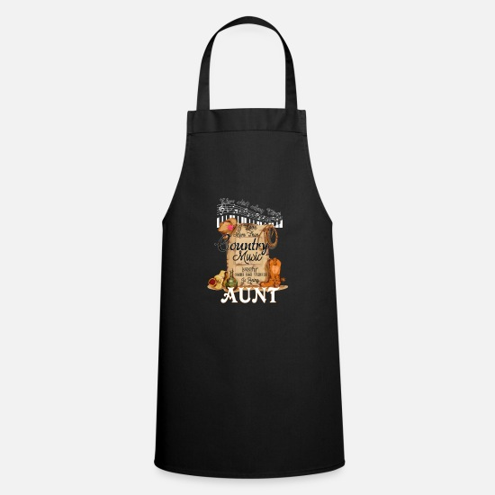 Play Aprons - Country Music Aunt - Apron black