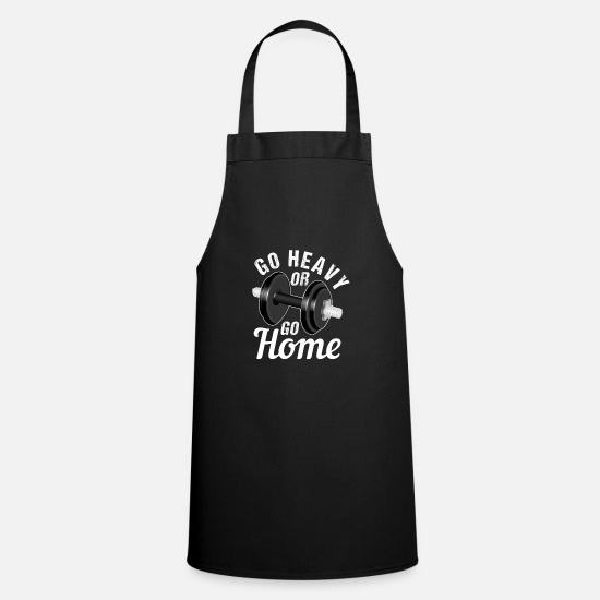Body Builder Aprons - Bench press weight training bodybuilding fitness - Apron black