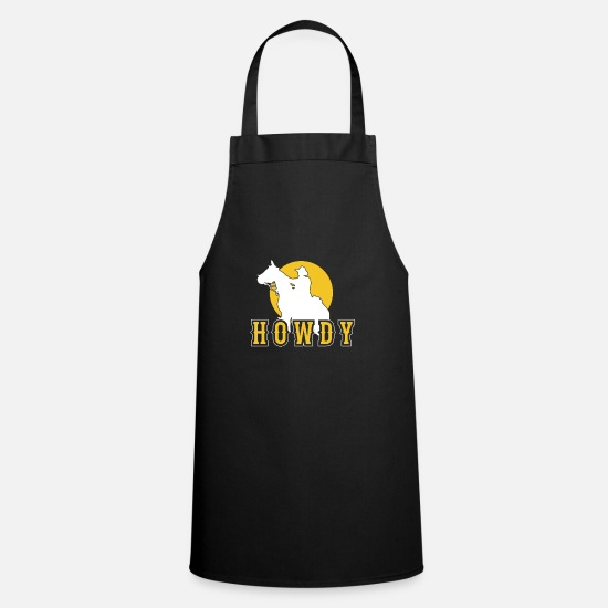 Gift Idea Aprons - rodeo - Apron black