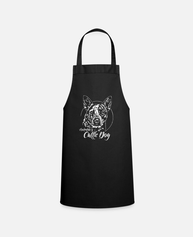 Master Aprons - AUSTRALIAN CATTLE DOG herding dogs Wilsigns dogs - Apron black