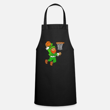 Irishman Leprechaun Basketball St. Patrick's Day Ball Sport - Apron