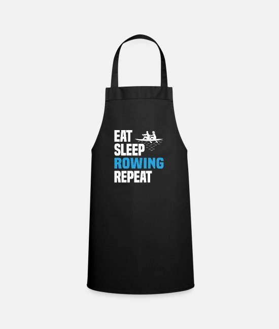 Quote Aprons - Rowing Rowers Club Funny Cool Shirt Gift - Apron black