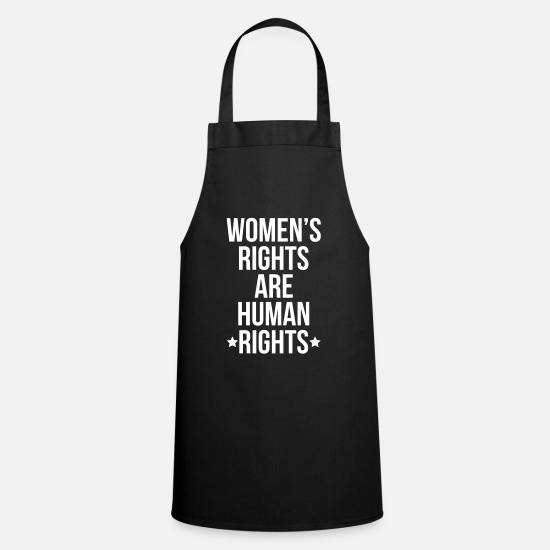 Siblings Aprons - Women's Rights Are Human Rights - Apron black